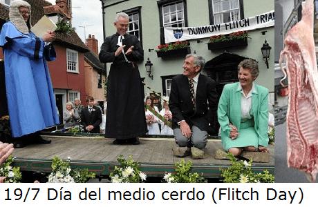Flitch Day - Día del medio cerdo - Tradities