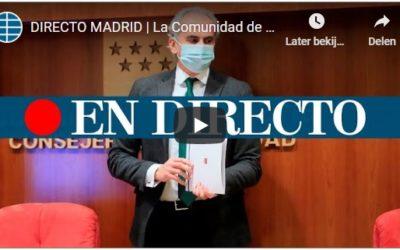 Persconferentie Gezondheidszorg regio Madrid 8/1/21